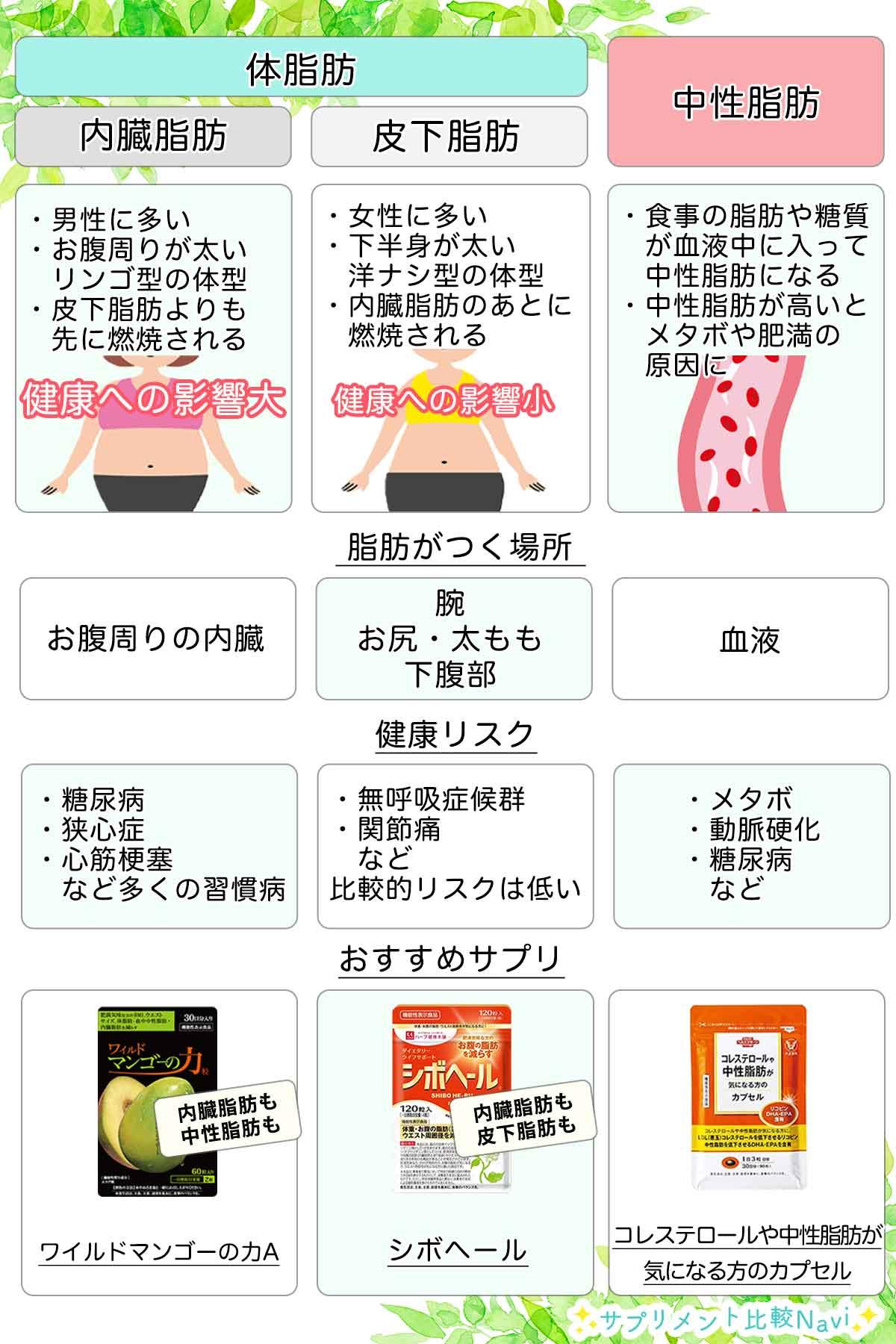 内臓脂肪対策サプリ