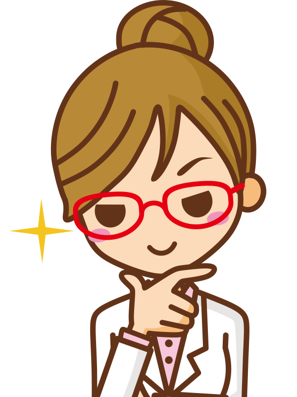 白衣の増田さん